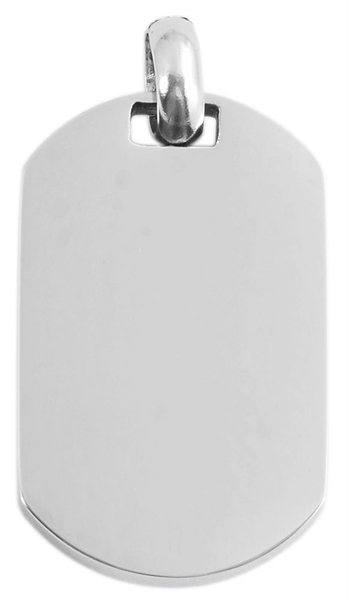 Akzent Edelstahlanhänger in , Breite: 21 mm / Höhe: 34 mm