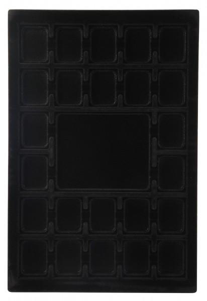 Einsatz für Schmuckwaren in schwarz
