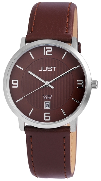 Just JU199 Analog Herrenuhr mit Echtlederband - UVP 49,95 €