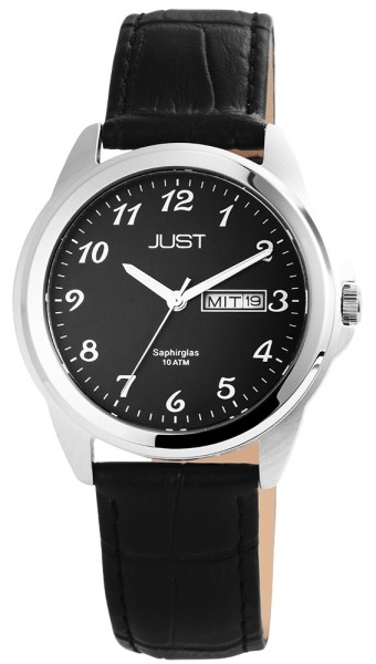 Just JU210 Analog Herrenuhr mit Echtlederband - UVP 59,95€