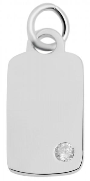 925 Silber Anhänger ohne Kette, 925/rhodiniert, 3,4g
