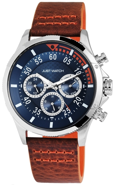 Just Watch JW010 Analog Herrenuhr mit Echtlederband - UVP 79,95 €