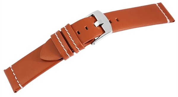 Echt Leder Armband, hellbraun mit weißer Naht, UVP 24,95 €