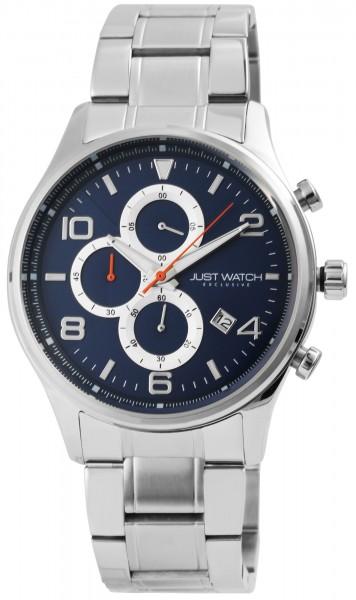 JUST WATCH EXCLUSIVE JWE002 Chronograph Herrenuhr mit Edelstahlband - UVP 89,95€