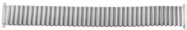 Zugband Metall Armband in silberf., 18 mm , flexibler Anstoß 18-22 mm