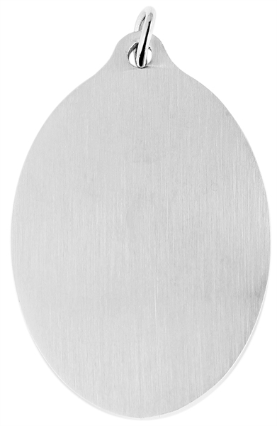 Akzent Edelstahlanhänger in silberfarbig, Breite: 29 mm / Höhe: 40 mm
