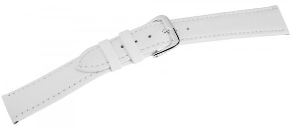 Basic Echtleder Armband in weiss, glatt, flach, VE12