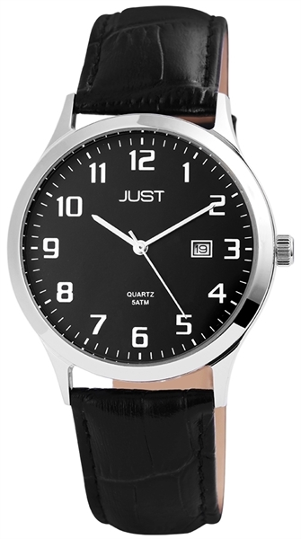 Just JU095 Analog Herrenuhr mit Echtlederband - UVP 49,95 €