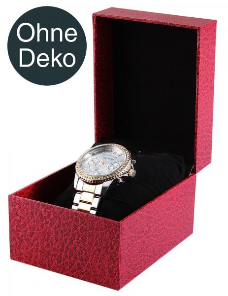 Uhrenbox aus Pappe, schwarz