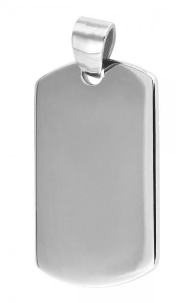 Akzent Edelstahlanhänger in silberfarbig, Breite: 16 mm / Höhe: 27 mm