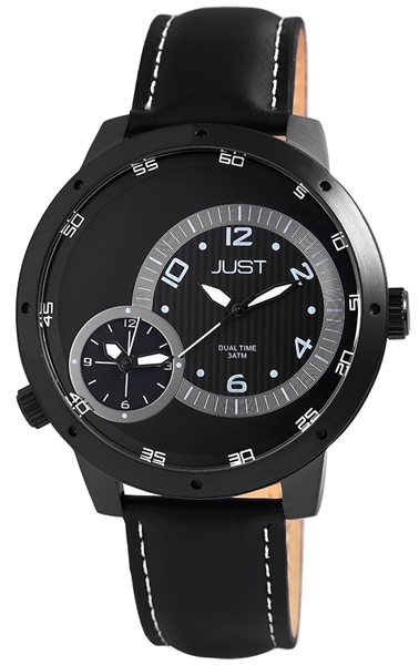 Just JU192 Analog Herrenuhr mit Echtlederband - UVP 79,95 €