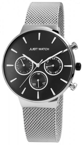 Just Watch Herrenuhr mit Multifunktionsuhrwerk und Edelstahl Meshband - UVP 79,95€