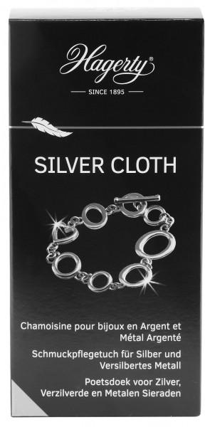 Hagerty Silver Cloth Schmuckpflegetuch für Silber- und versilberten Schmuck, 36 x 30 cm, 100 % Baumw