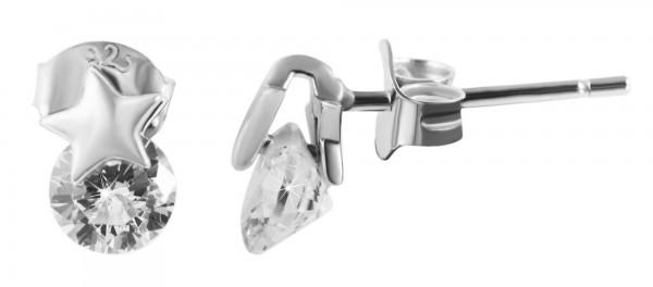 925 Silber Ohrringe, 925/rhodiniert, 1g