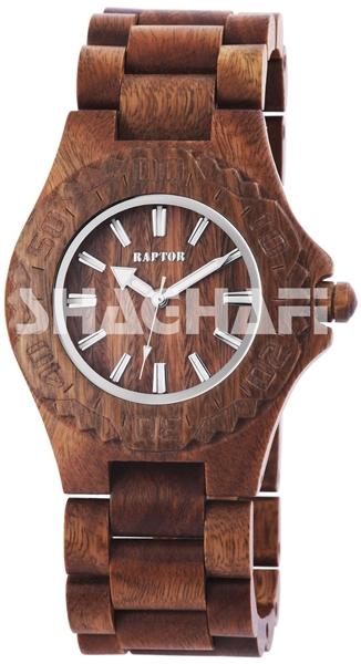 Raptor 2981-0005 Analog Unisexuhr mit Holz-Sandelholzband - UVP 79,95€