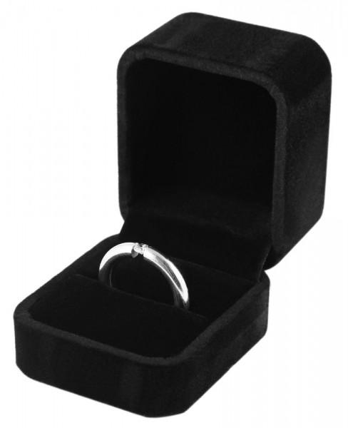 Ringbox aus Samt, Maße: 5 x 6 x 4,5 cm