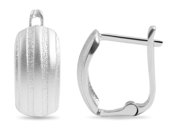 925 Silber Creolen, 925/rhodiniert, 1,6g