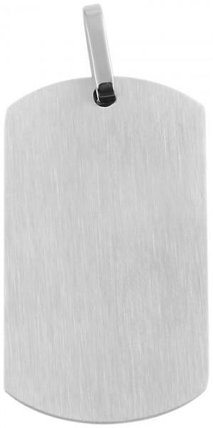 Akzent Edelstahlanhänger in silberfarbig, Breite: 22 mm / Höhe: 38 mm