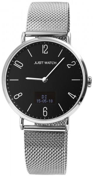 Just Watch JW108 Hybrid Smart Watch Herrenuhr mit Edelstahlband - UVP 129,95€