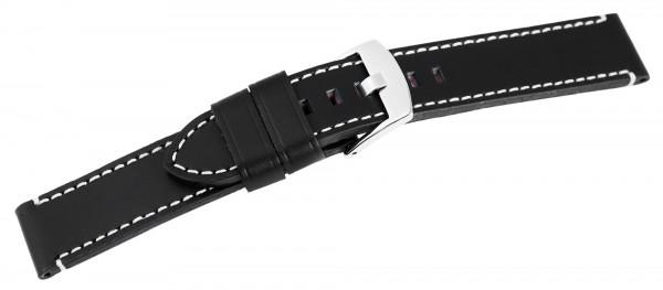 Echt Leder Armband, XL, dunkelblau mit weißer Naht, UVP 19,95 €