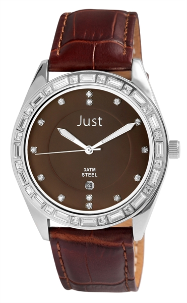 Just JU100 Analog Damenuhr mit Echtlederband - UVP 39,95€