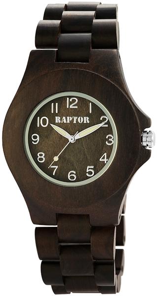 Raptor 1981-0003 Analog Unisexuhr mit Holz-Sandelholzband - UVP 79,95 €