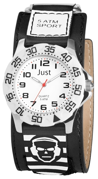 Just JU318 Analog Kinderuhr mit Lederimitatband - UVP 29,95 €