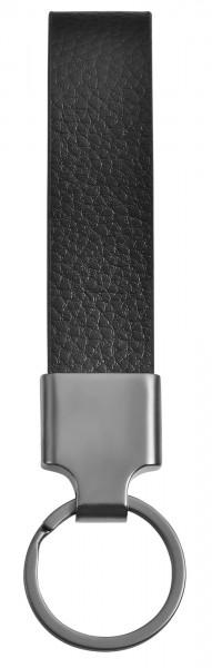 Edelstahl Schlüsselanhänger mit Echt Lederband, 20x10,7cm