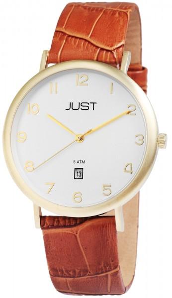 Just JU009 Analog Herrenuhr mit Echtlederband - UVP 69,95 €