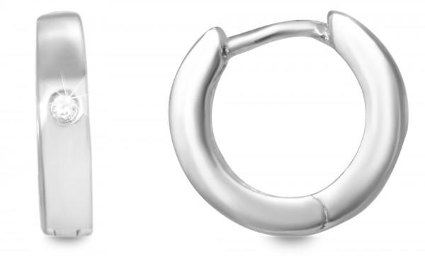 Echt Silber Creolen, 925/, 3,2 gr., rhodiniert