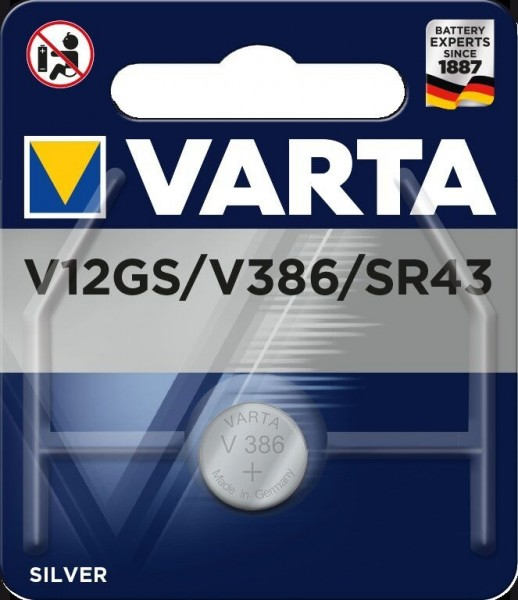 Varta Batterie V12GS Lithium Knopfzellen 1,55 Volt - Verpackungseinheit 1 Stück