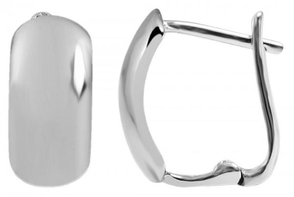 925 Silber Ohrringe, 925/rhodiniert, 1,8 g, Länge: 1,2 cm / Breite: 0,6 cm / Stärke: 0,1 cm