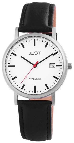 Just JU065 Analog Herrenuhr mit Echtlederband - UVP 59,95 €