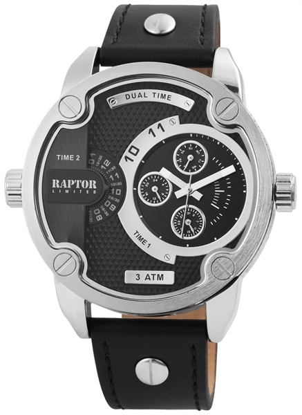 RAPTOR LIMITED Herrenuhr mit Echt Lederband
