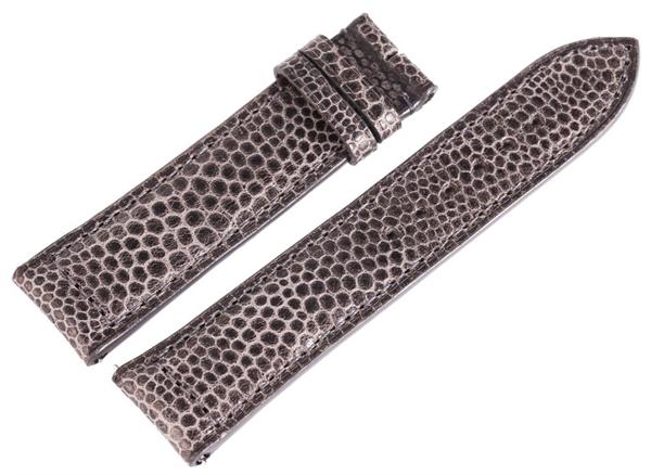 Carucci Basic Echtleder Armband in grau, Strauss, gepolstert, 22 mm