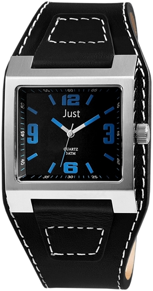 Just JU207 Analog Herrenuhr mit Echtlederband - UVP 54,90 €