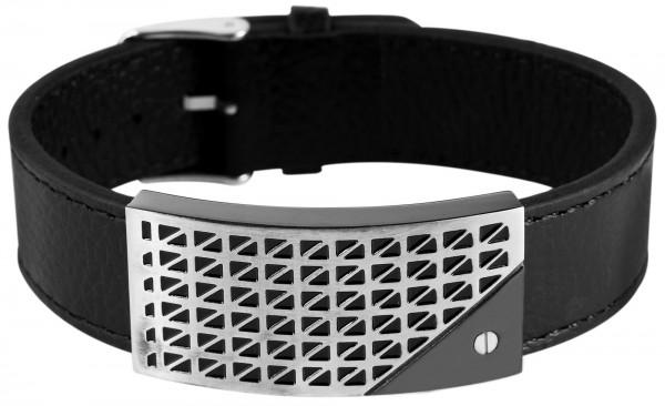 Armband aus Echtleder in Schwarz