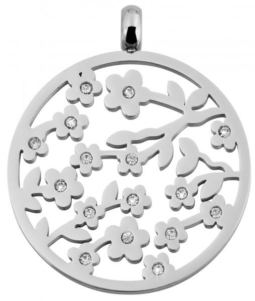 Akzent Edelstahlanhänger in silberfarbig, Durchmesser: 40 mm