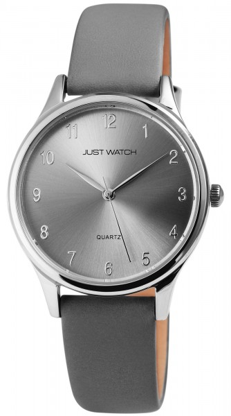 Just Watch Analog Unisexuhr mit Echtlederband - UVP 39,95 €