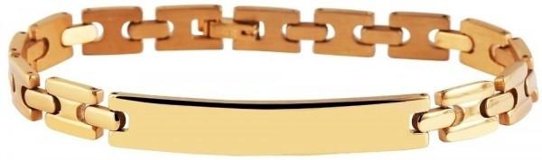 Akzent Gliederarmband aus Edelstahl in goldfarbig mit IP Gold-Beschichtung