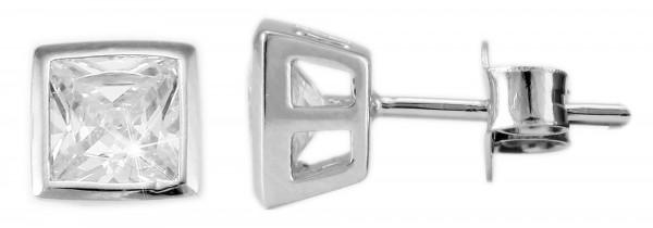 Echt Silber Ohrstecker, 925/, 1,3 gr., rhodiniert