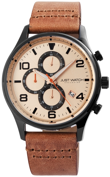 JUST WATCH EXCLUSIVE JWE002 Herrenuhr mit Echtlederband - UVP 89,95€