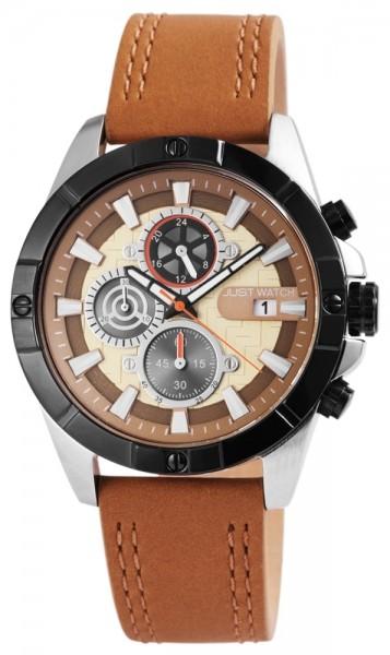 Just Watch JW089 Chronograph Herrenuhr mit Echtlederband - UVP 79,95 €