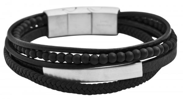 Echt Leder Armband, schwarz