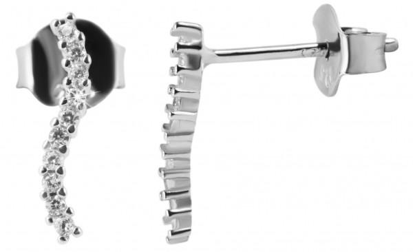925 Silber Ohrringe, 925/rhodiniert, 0,5g