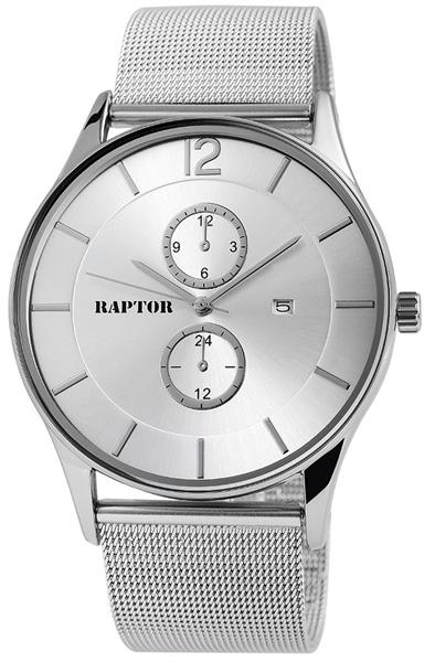 Raptor 2859-0021 Analog Herrenuhr mit Edelstahl-Edelstahlband - UVP 49,95 €
