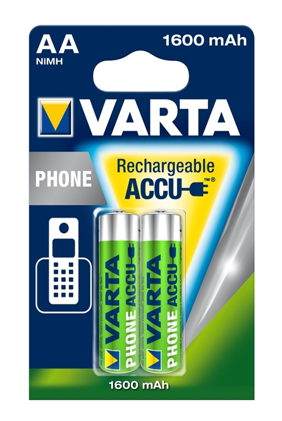 Varta Akku Mignon AA Standard 1,2 Volt - Verpackungseinheit 2 Stück