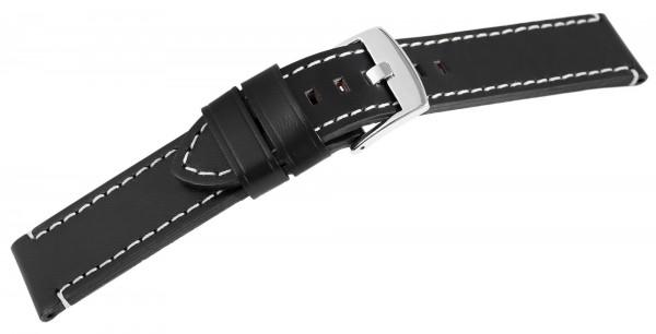 Echt Leder Armband, XL, schwarz mit weißer Naht, UVP 19,95 €