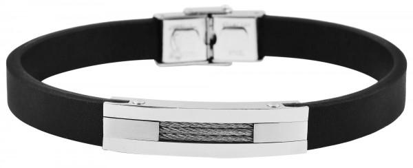 Echt Leder Armband mit Edelstahlelement