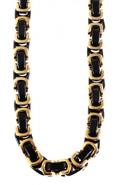 Akzent Königskette, Edelstahl, goldfarben/schwarz